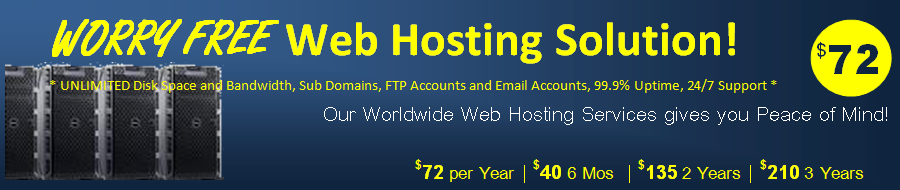 cheap Corporate Web Hosting worldwide